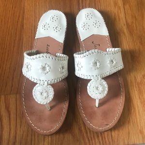 Classic White Flat Jack Rogers Sandals